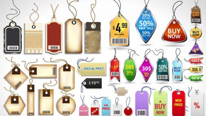 Tag giấy được thiết kế với nhiều màu sắc, kiểu dáng phong phú.